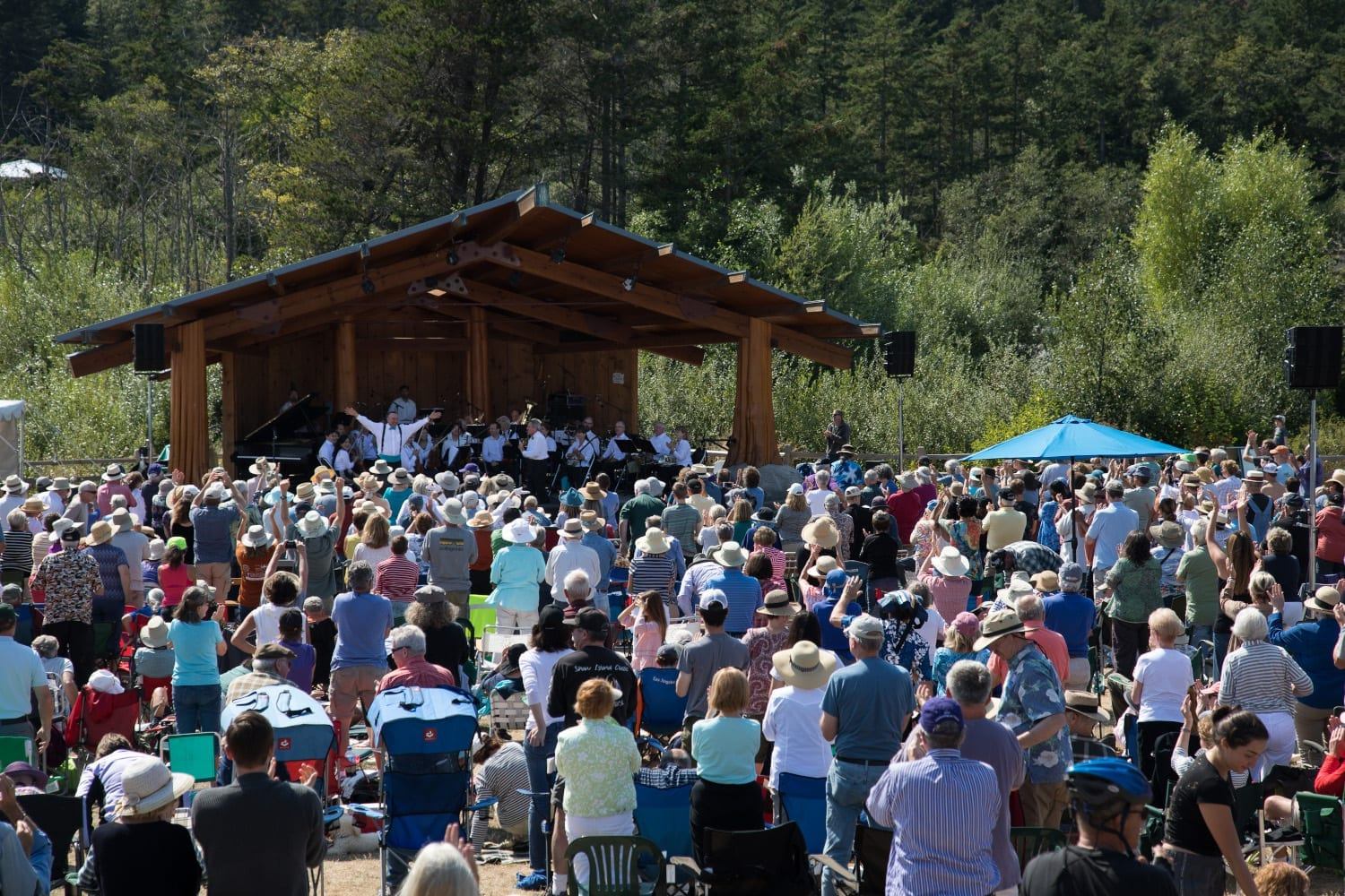 Outdoor Concert, Rhapsody in Blue Orchestra - Photo Credit Barry Carlton