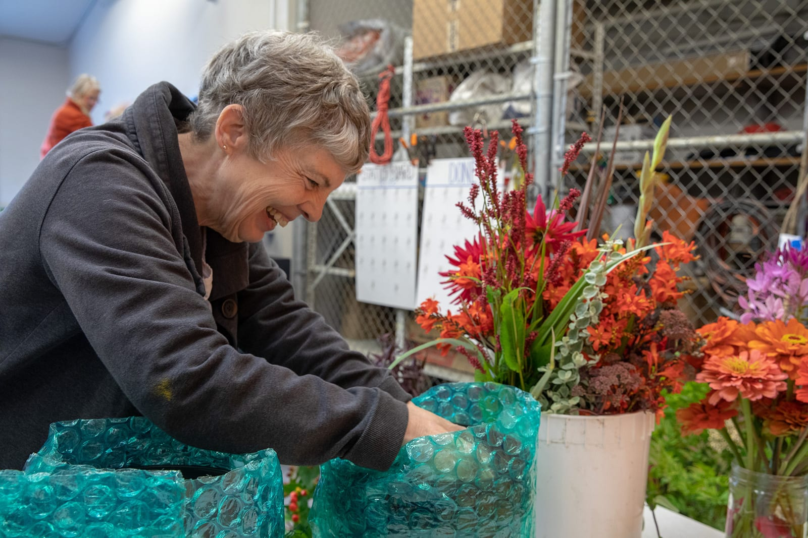Volunteers Flower Arranging Molly Thornbur