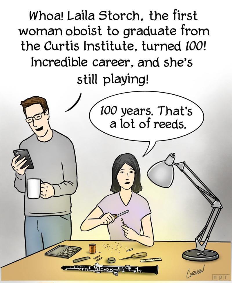 Laila Storch Oboist Cartoon